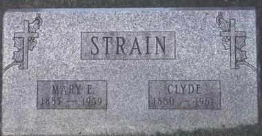 MARY E., STRAIN - Wapello County, Iowa | STRAIN MARY E.