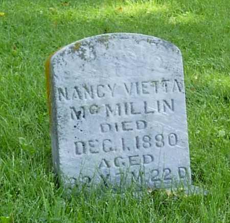 MCMILLIN, NANCY VIETTA - Wapello County, Iowa | NANCY VIETTA MCMILLIN