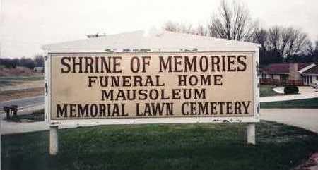 MEMORIAL LAWN/SHRINE OF MEMORI, CEMETERY - Wapello County, Iowa   CEMETERY MEMORIAL LAWN/SHRINE OF MEMORI