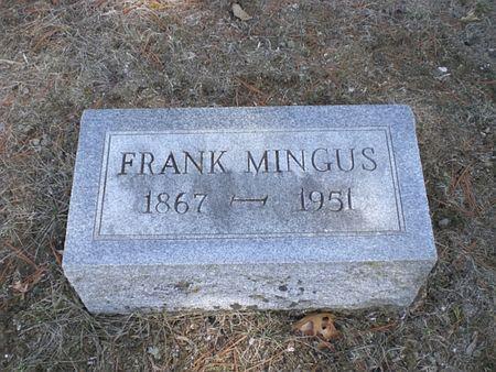 MINGUS, FRANK - Wapello County, Iowa | FRANK MINGUS
