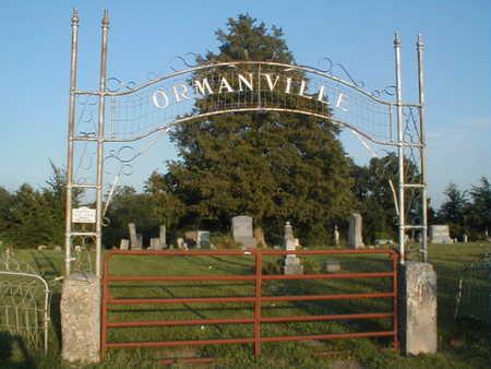 ORMANVILLE, CEMETERY - Wapello County, Iowa | CEMETERY ORMANVILLE