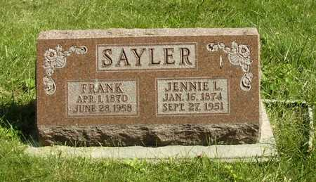 SAYLER, JENNIE L. - Wapello County, Iowa | JENNIE L. SAYLER