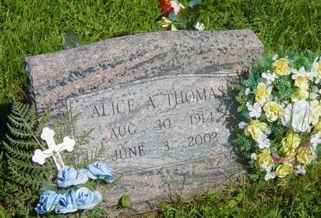 THOMAS, ALICE A - Wapello County, Iowa | ALICE A THOMAS