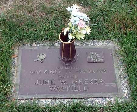 MEEKER WARFIELD, JUNE - Wapello County, Iowa | JUNE MEEKER WARFIELD