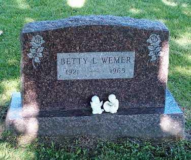 MCREYNOLDS WEMER, BETTY - Wapello County, Iowa | BETTY MCREYNOLDS WEMER