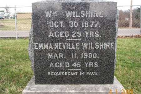 WILSHIRE, WILLIAM - Wapello County, Iowa   WILLIAM WILSHIRE