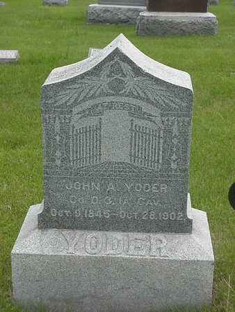 YODER, JOHN     A - Wapello County, Iowa | JOHN     A YODER
