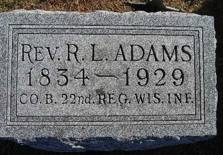 ADAMS, R. L. (REV.) - Warren County, Iowa | R. L. (REV.) ADAMS