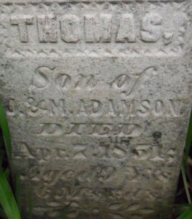 ADAMSON, THOMAS - Warren County, Iowa   THOMAS ADAMSON