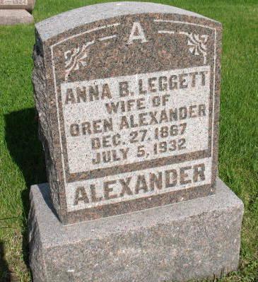 ALEXANDER, ANNA B. - Warren County, Iowa | ANNA B. ALEXANDER