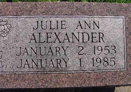ALEXANDER, JULIE ANN - Warren County, Iowa | JULIE ANN ALEXANDER