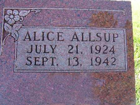 ALLSUP, ALICE - Warren County, Iowa | ALICE ALLSUP