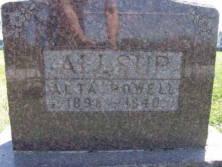 ALLSUP, ALTA POWELL - Warren County, Iowa   ALTA POWELL ALLSUP