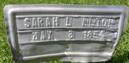 ALTON, SARAH L. - Warren County, Iowa   SARAH L. ALTON