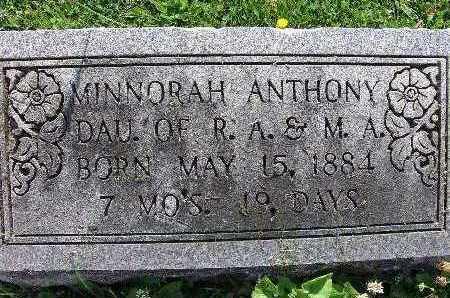 ANTHONY, MINNORAH - Warren County, Iowa | MINNORAH ANTHONY