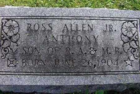 ANTHONY, ROSS ALLEN JR. - Warren County, Iowa   ROSS ALLEN JR. ANTHONY