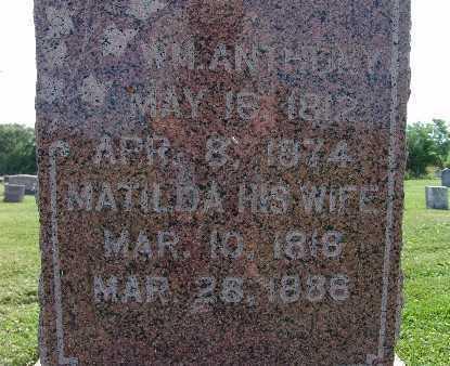 ANTHONY, MATILDA - Warren County, Iowa | MATILDA ANTHONY