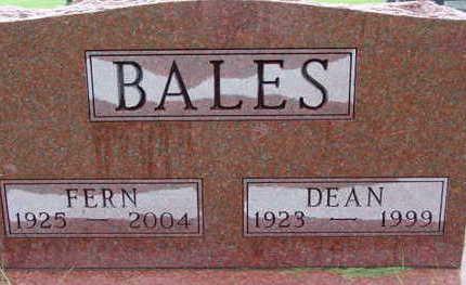 BALES, FERN - Warren County, Iowa   FERN BALES