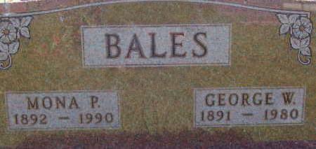 BALES, GEORGE W - Warren County, Iowa | GEORGE W BALES