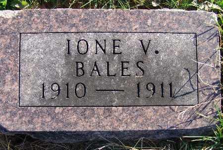 BALES, IONE V. - Warren County, Iowa | IONE V. BALES