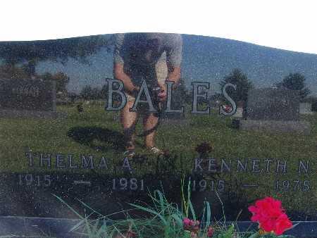 BALES, THELMA A - Warren County, Iowa | THELMA A BALES