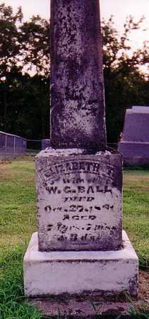 CHARLTON BALL, ELIZABETH - Warren County, Iowa | ELIZABETH CHARLTON BALL