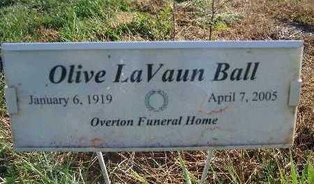 BALL, OLIVE LAVAUN - Warren County, Iowa | OLIVE LAVAUN BALL