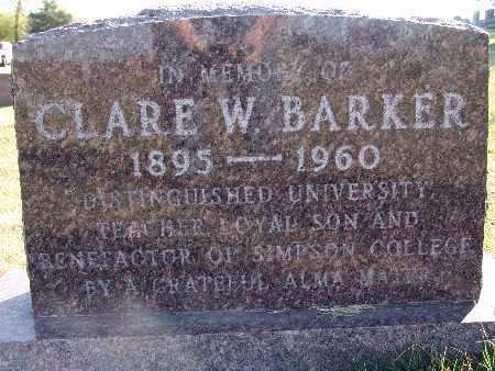 BARKER, CLARE W. - Warren County, Iowa | CLARE W. BARKER