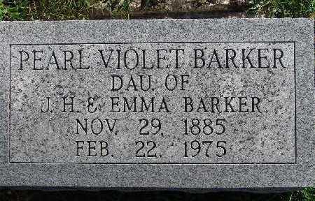 BARKER, PEARL VIOLET - Warren County, Iowa   PEARL VIOLET BARKER