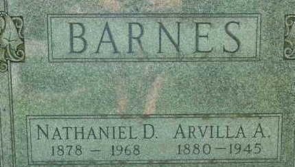 BARNES, ARVILLA A - Warren County, Iowa   ARVILLA A BARNES