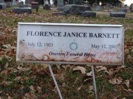 BARNETT, FLORENCE JANICE - Warren County, Iowa | FLORENCE JANICE BARNETT