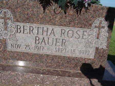 BAUER, BERTHA ROSE - Warren County, Iowa | BERTHA ROSE BAUER