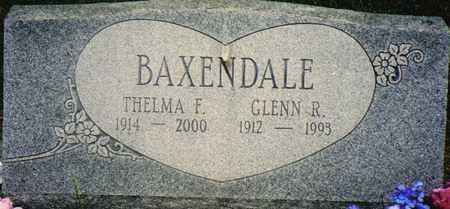 BAXENDALE, THELMA F. - Warren County, Iowa | THELMA F. BAXENDALE