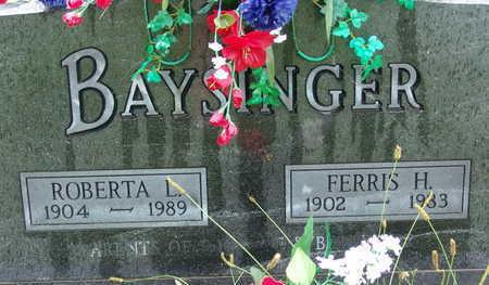 BAYSINGER, FERRIS H - Warren County, Iowa | FERRIS H BAYSINGER