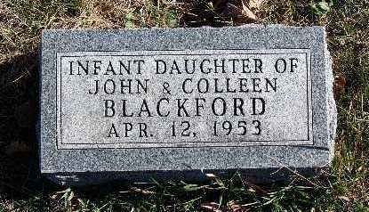 BLACKFORD, INFANT DAUGHTER - Warren County, Iowa | INFANT DAUGHTER BLACKFORD