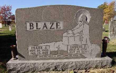 BLAZE, LOUISE FLORENCE - Warren County, Iowa | LOUISE FLORENCE BLAZE