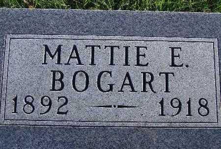 BOGART, MATTIE E. - Warren County, Iowa   MATTIE E. BOGART