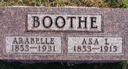 BOOTHE, ASA L. - Warren County, Iowa | ASA L. BOOTHE