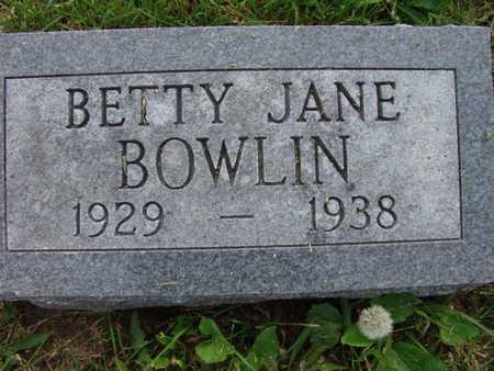 BOWLIN, BETTY JANE - Warren County, Iowa | BETTY JANE BOWLIN