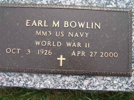BOWLIN, EARL M. - Warren County, Iowa   EARL M. BOWLIN