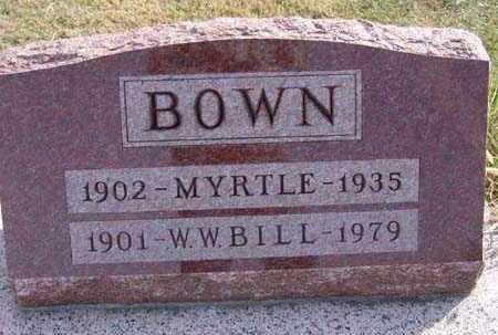 BOWN, W. W. BILL - Warren County, Iowa | W. W. BILL BOWN