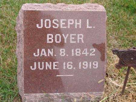 BOYER, JOSEPH L. - Warren County, Iowa | JOSEPH L. BOYER