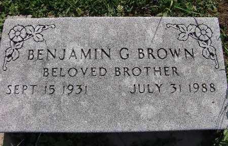 BROWN, BENJAMIN G. - Warren County, Iowa | BENJAMIN G. BROWN
