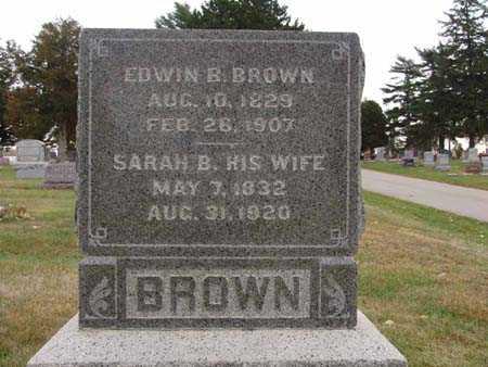BROWN, EDWIN B. - Warren County, Iowa | EDWIN B. BROWN