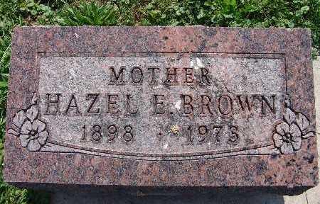 BROWN, HAZEL E. - Warren County, Iowa | HAZEL E. BROWN