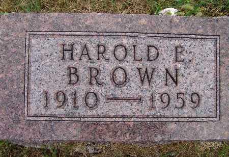 BROWN, HAROLD E. - Warren County, Iowa   HAROLD E. BROWN