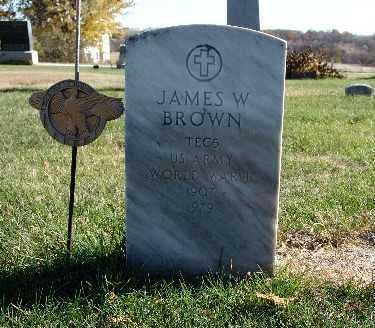 BROWN, JAMES W. - Warren County, Iowa   JAMES W. BROWN