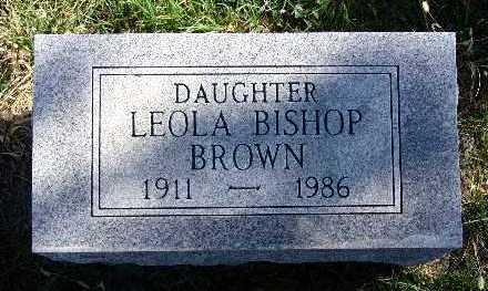 BISHOP BROWN, LEOLA - Warren County, Iowa | LEOLA BISHOP BROWN