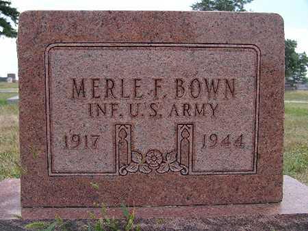 BROWN, MERLE F. - Warren County, Iowa   MERLE F. BROWN