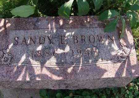 BROWN, SANDY E. - Warren County, Iowa | SANDY E. BROWN